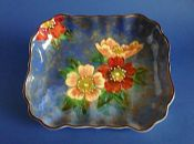 Fine Vintage Royal Doulton 'Wild Rose' Series Art Deco Dish D6227 c1949